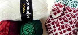 Scheepjes Christmas Blog Hop – Christmas Heart Mitts!