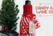 Candy Cane Wine Cozy