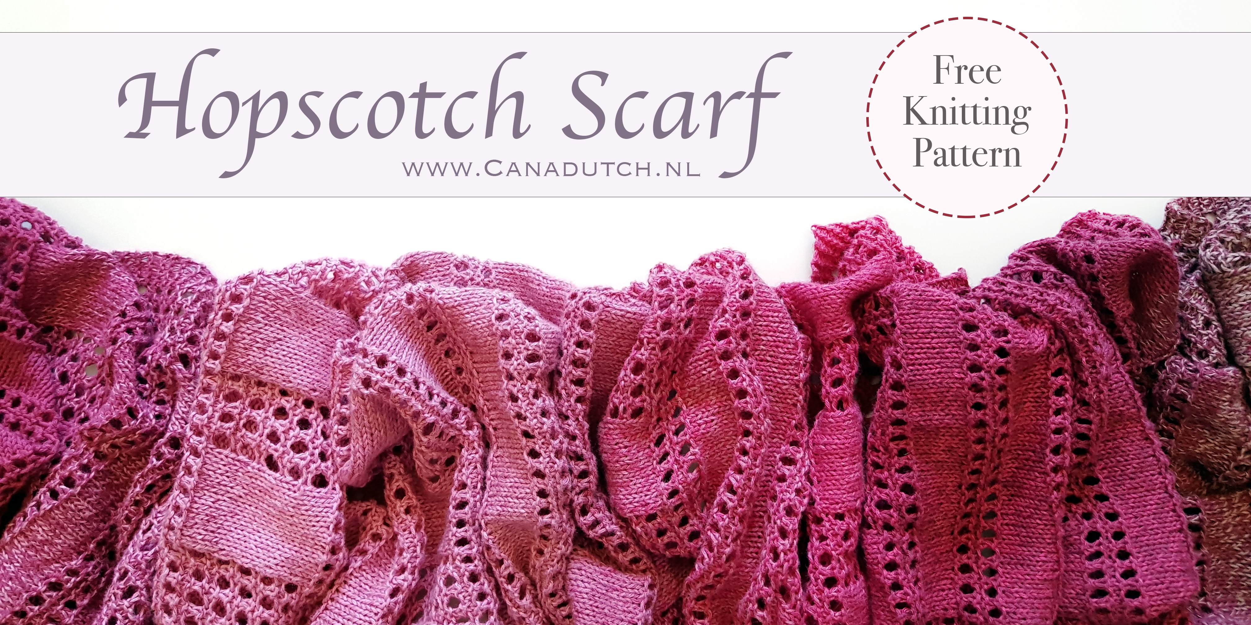 Hopscotch Scarf Free Knitting Pattern Canadutch